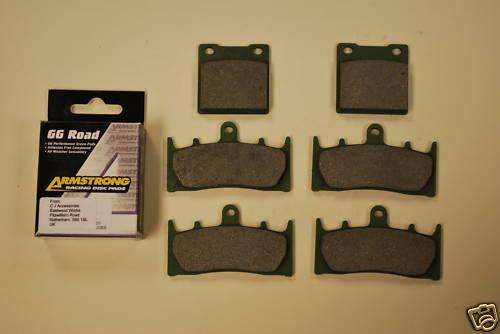 Full Set Armstrong GG Brake Pads For Suzuki GSXR TL1000 Hayabusa