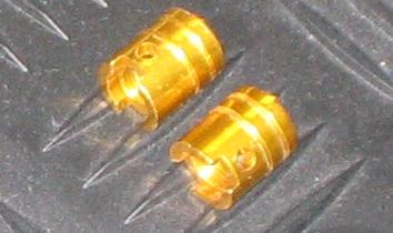 Pair of 'Piston' Valve Caps