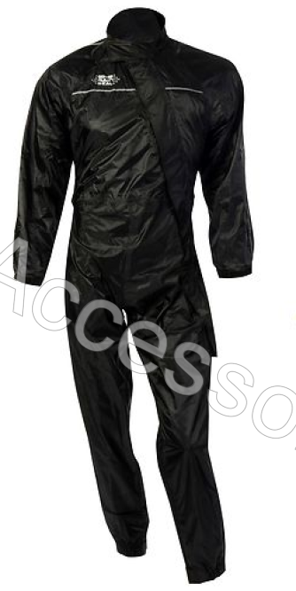 Oxford Rainseal All Weather Black Motorcycle Oversuit Waterproof
