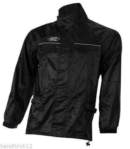Oxford Rainseal All Weather Black Motorcycle Over Jacket Waterproof