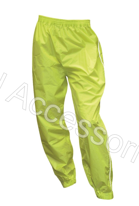 Oxford Rainseal All Weather Fluorescent Fluro Motorcycle Over Trousers Waterproof
