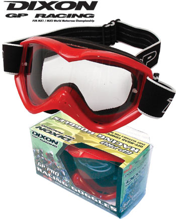 Red Dixon GP Pro Off-Road Competition Goggles