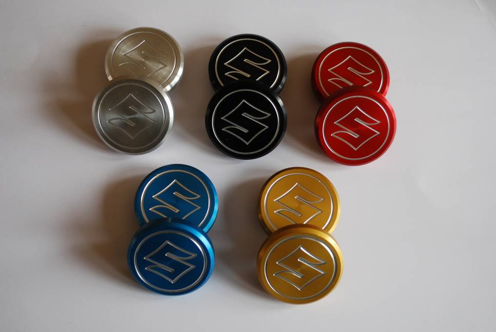 Billet Aluminium Frame Plugs Mk II Bandit 