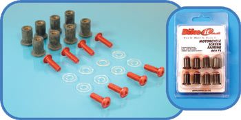 Universal Anodised Sports Screen Fairing Bolts