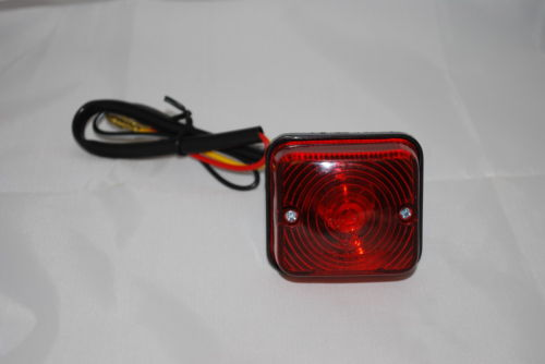 1 x Square Rear &amp; Brake Light 