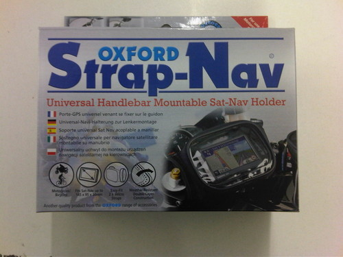 Oxford Motorcycle Strap Sat Nav Holder Motorbike Handlebar Mountable Case Bag
