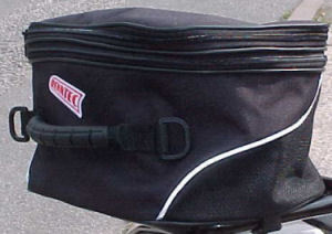 Renntec Black Tail Pack Luggage Bag Motorcycle 17 Litres to 29 Litres