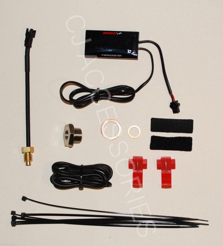 Digital Oil Temperature Gauge Kit Suzuki GSF600 GSF1200 Bandit GSXR750 GSXR1100