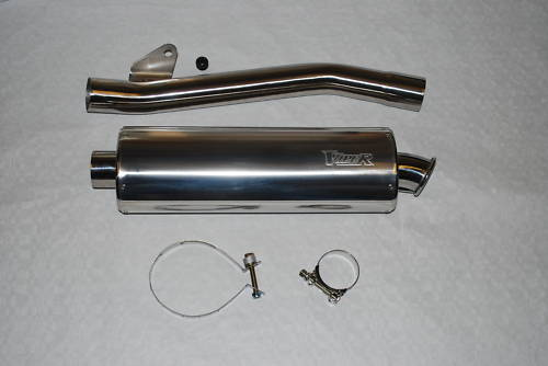 Viper Oval Race Exhaust Can Yamaha FZS 1000 Fazer 00-06 - 3 Lengths Avaialble