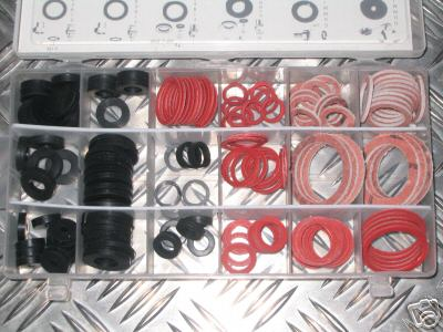 141 Piece Fibre and Rubber Sealing Washer Assortment Kit