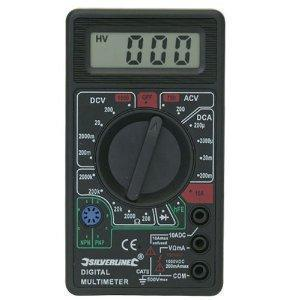Silverline Digital Multimeter Test Meter AC DC