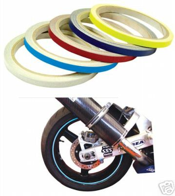 Wheel and Bike Stripes - Choice of 8 Colours