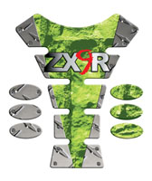 Metal Flash ZX6R ZX9R Spine Tank Pad